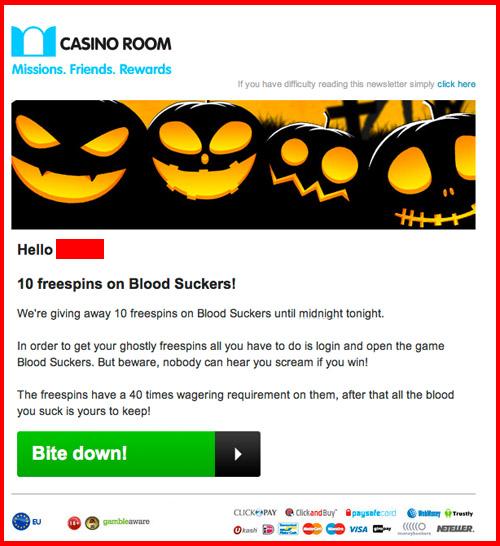 CasinoRoom No Deposit Free Spins