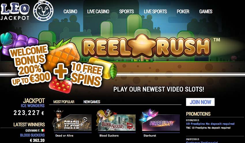 10 free spins leo jackpot casino