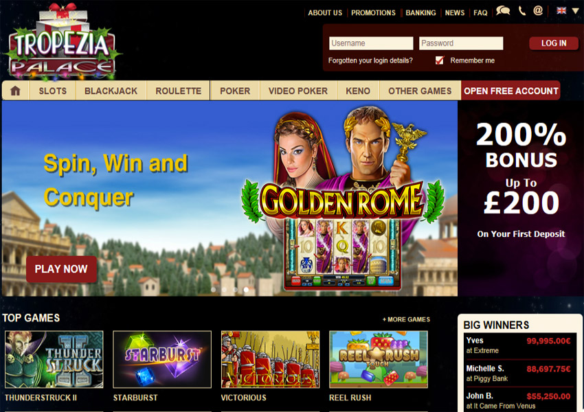 30 Free Spins at Palace of Chance
