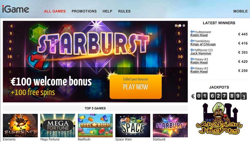 Casino free spins 100