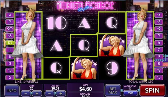 Marilyn Monroe™ Slot Machine Game to Play Free in Playtechs Online Casinos