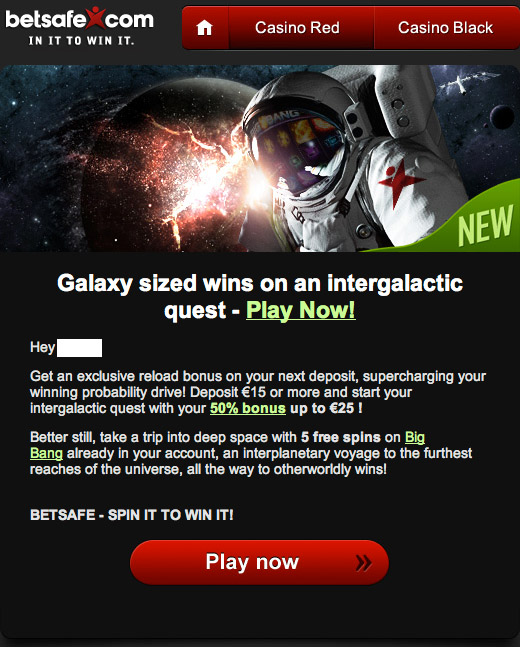 BEtSafe Email on BigBang Launch
