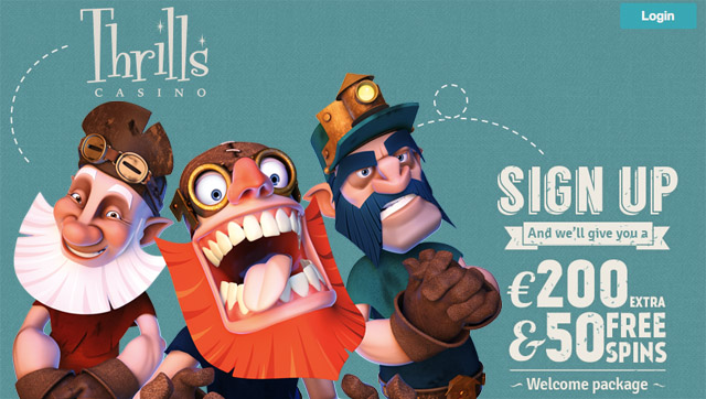 Thrills Casino | Play Reptoids | Get Free Spins