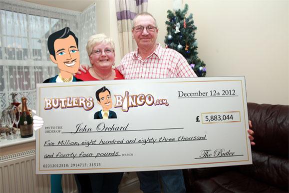 winner with Butlers Bingo