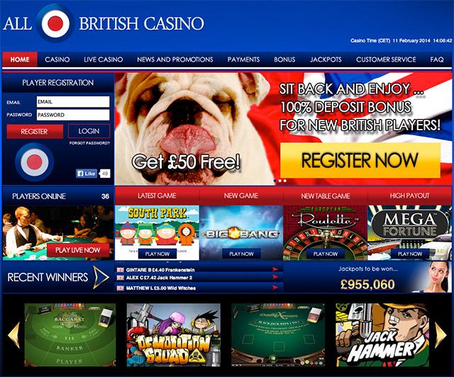 Free casino bonuses uk