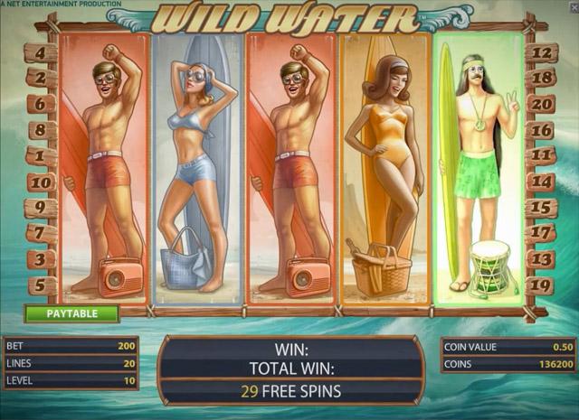 Wild Water- New NetEnt Slot 2014