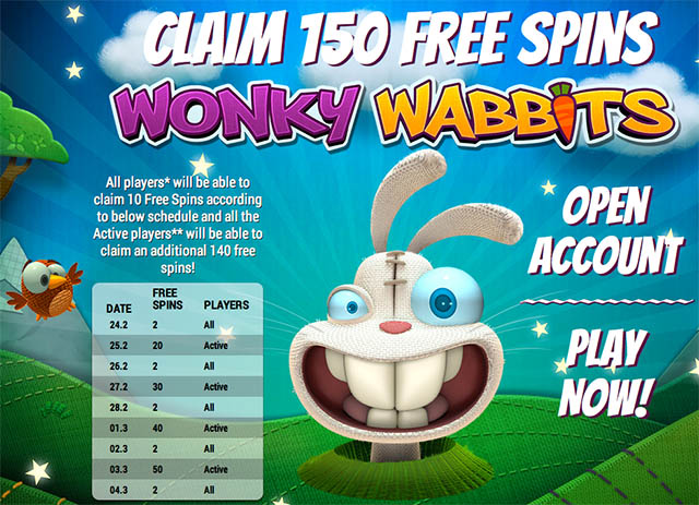Wonky Wabbit slot free spins