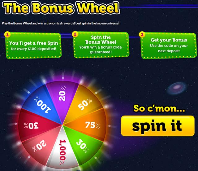 Moon Games Casino - The Bonus Wheel