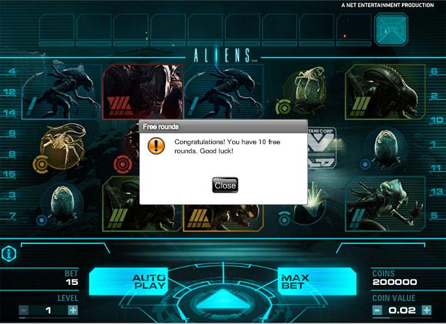 Aliens Slot free spins