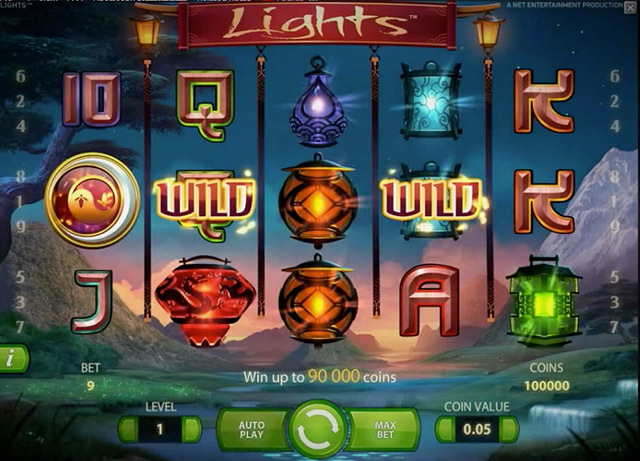 Lights slot machine netent