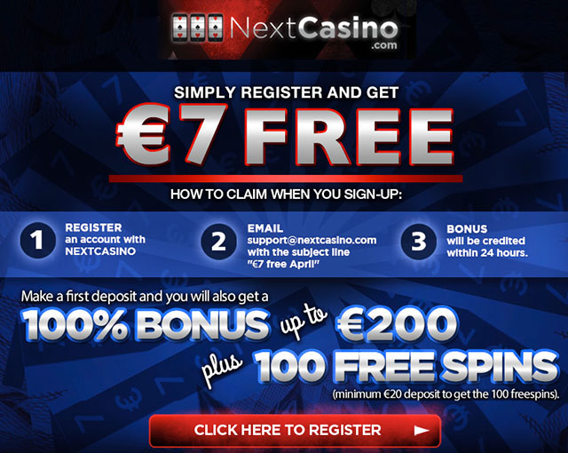 7 No Deposit Casino Bonus 100 Free Spins At Next Casino