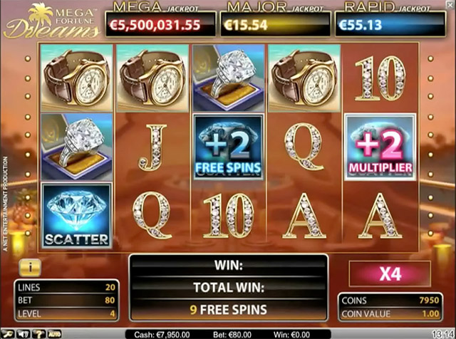 Mega Fortune Dreams Slot Free Spins Coming Soon