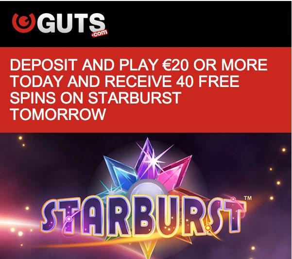 starburst 20 free spins