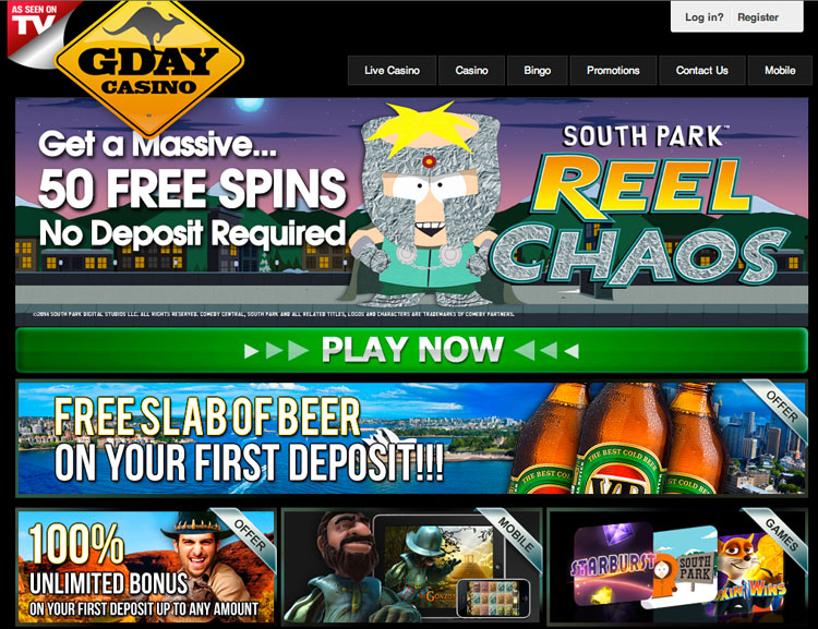 Gday casino bonus code