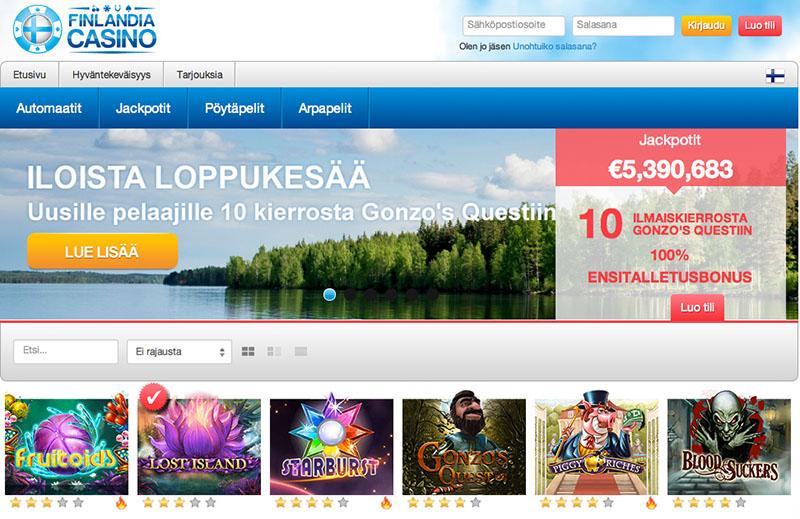 Finlandia Casino - 10 Free Spins