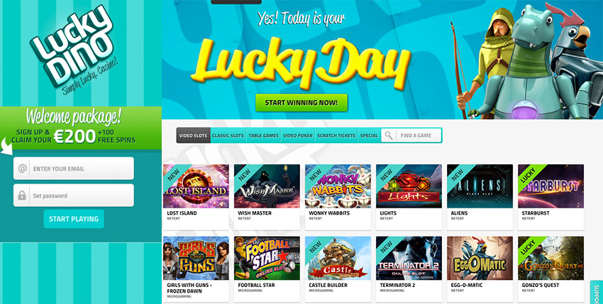 Lucky Dino Casino Review