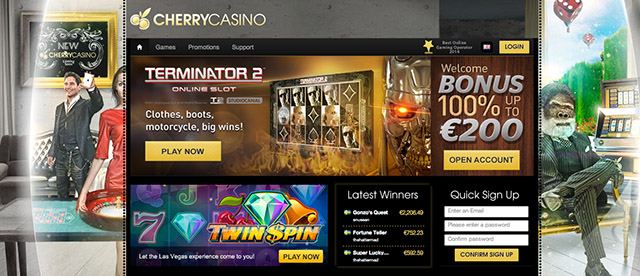 Cherry Casino - Home page