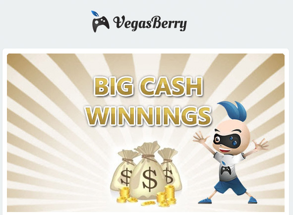 100 Free Spins for 3 days at Vegas Berry