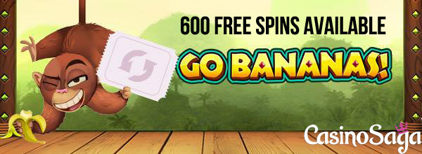 CasinoSaga Free Spins - 600 Go bananas Free Spins