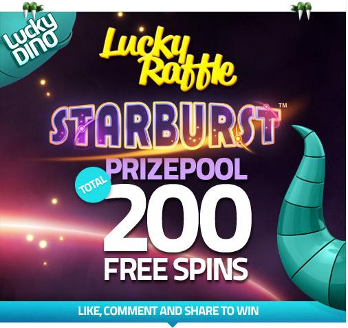 Lucky Dino - 50x4 Starburst Raffle