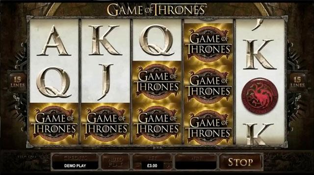 Game of Thrones Online Slot Machine