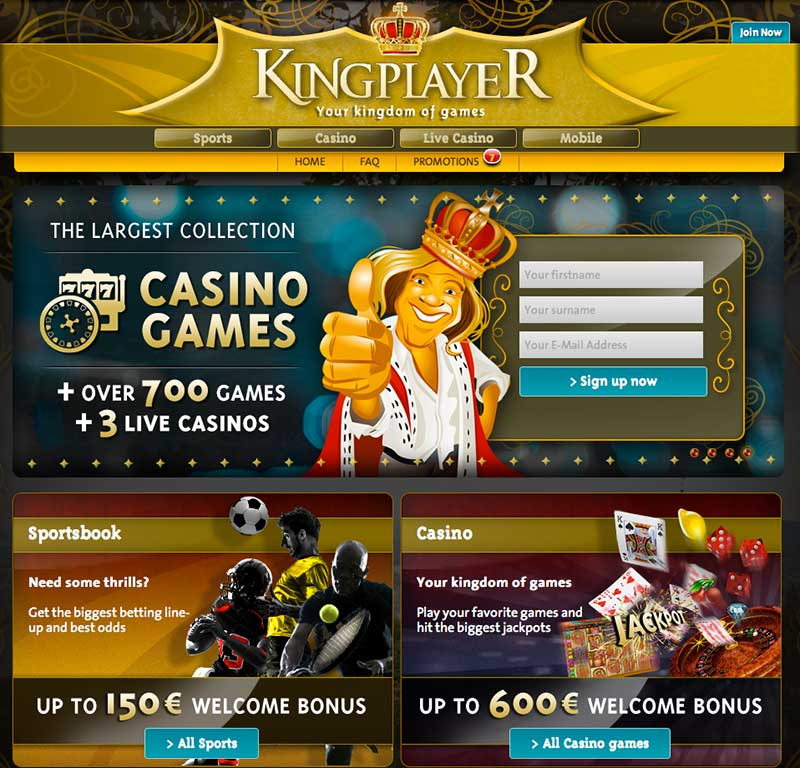 kingplayer casino bonus code