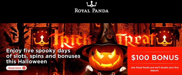 Royal Panda Halloween Free Spins Week