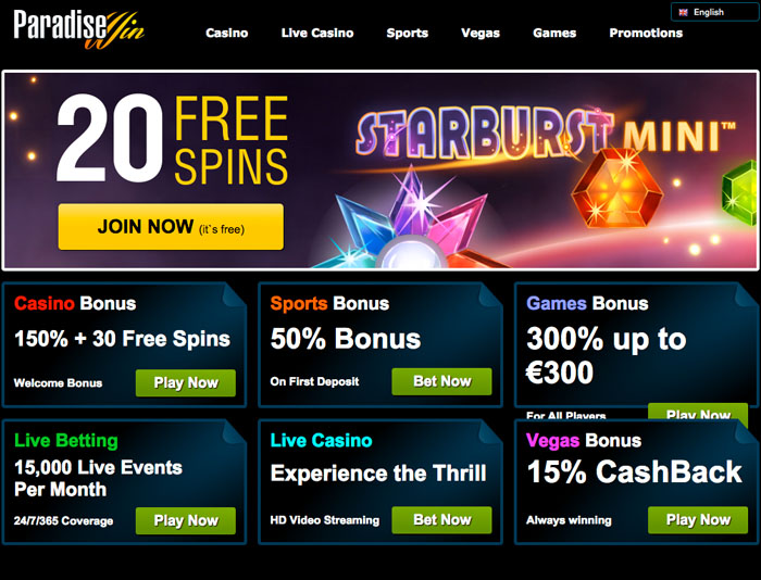 ParadiseWin Casino Online Review With Promotions & Bonuses
