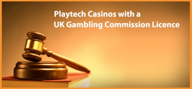 Playtech Casinos with a UK Commission Gambling Licence