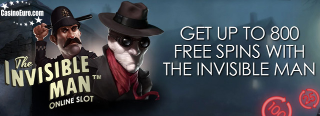 CasinoEuro-Invisible Man Free Spins