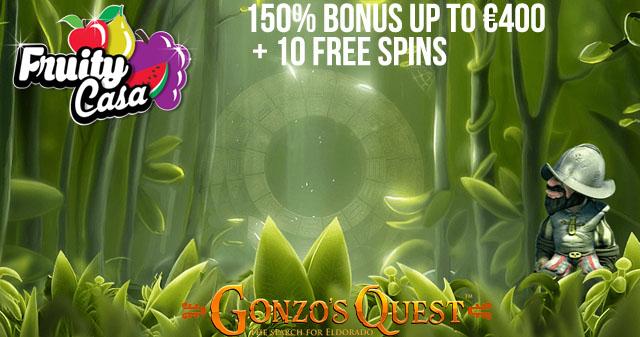 fruitycasa-10FreeSpins-Gonzos-Quest
