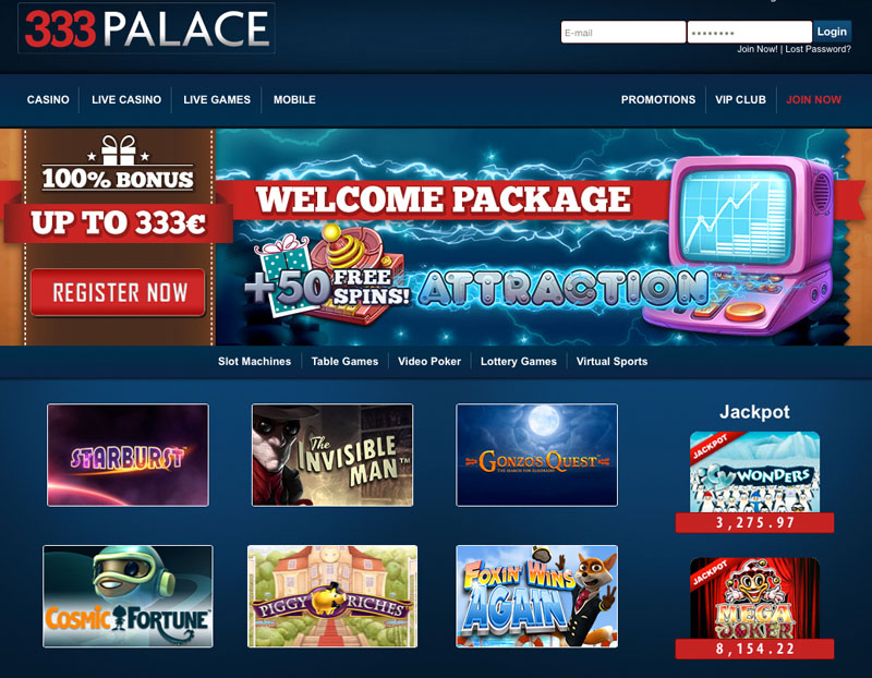 333 Palace Casino Review