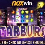 Noxwin Free Spins now available:10 No Deposit Free Spins on Sign up & 70 Free Spins on 1st Deposit on the Starburst Slot
