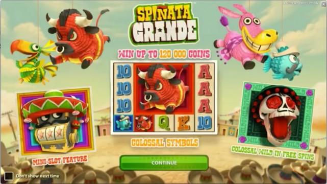 Up to £100 Bonus! Play Spiñata Grande Slot at Mr Green