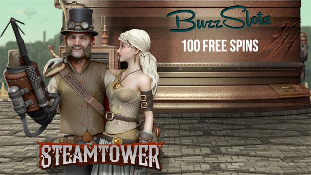 100-SteamTower-FreeSpins