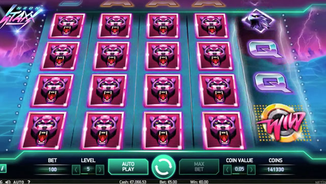 play Neon Staxx free slot