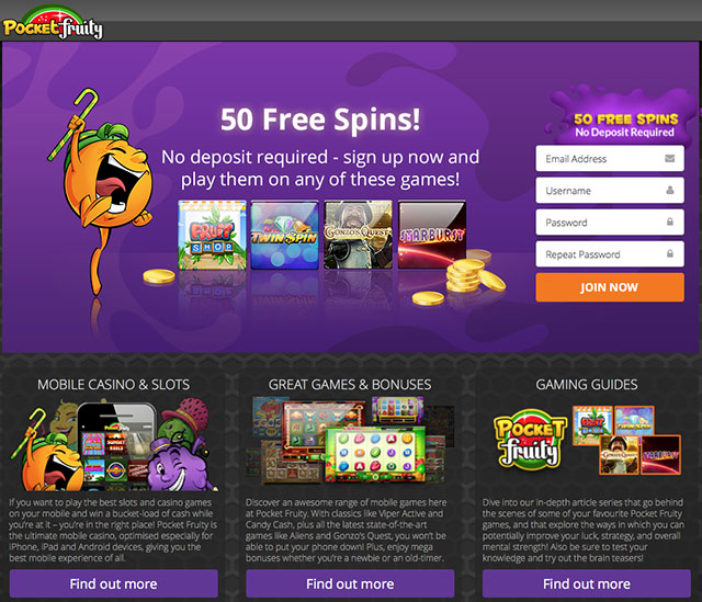 casino free spins no deposit required uk