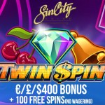 New Sin City Casino:€£$400 bonus & 100 Free Spins