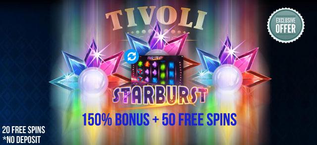 TivoliCasino-Starburst-FreeSpins-No-Deposit-Required