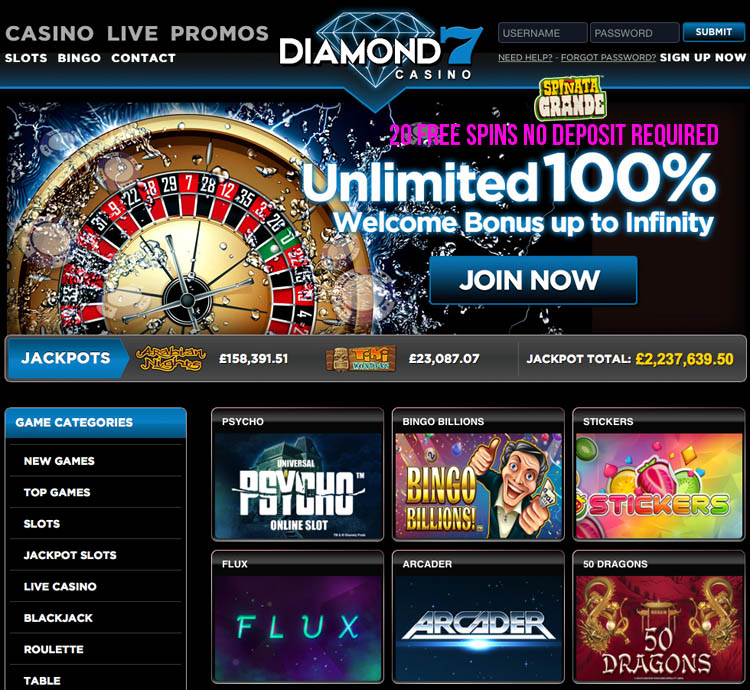 diamond 7 casino free spins no deposit