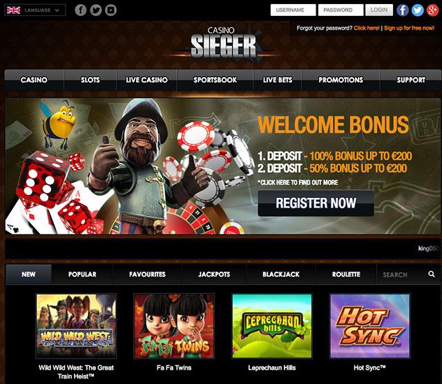 Casino Sieger Casino Review