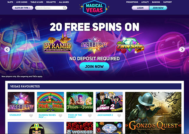 magical vegas online casino