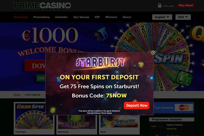 Prime Casino Bonus Code