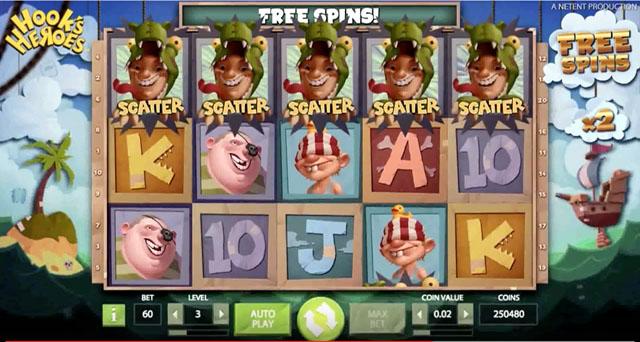 Hooks Heroes NetEnt Online Slot Game - Rizk Casino