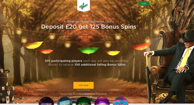 MrGreen-Autumn Free Spins