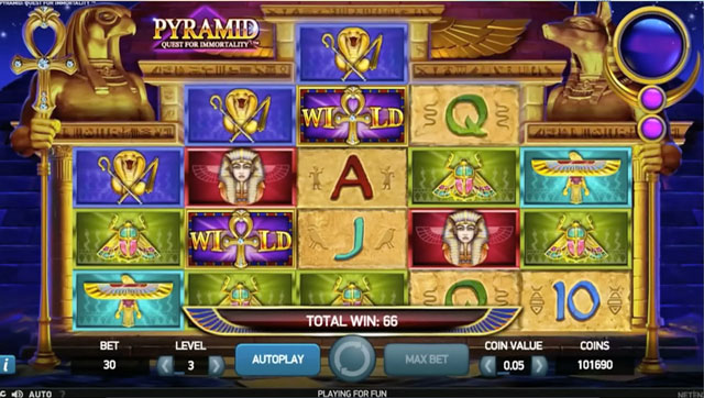 Pyramid: Quest for Immortality - a slot with an avalanche of wins at Casumo