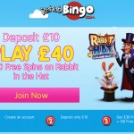 MORE Microgaming free spins! 150 Free Spins on Rabbit in the Hat when you deposit only Deposit €/£/$10 at Rehab Bingo
