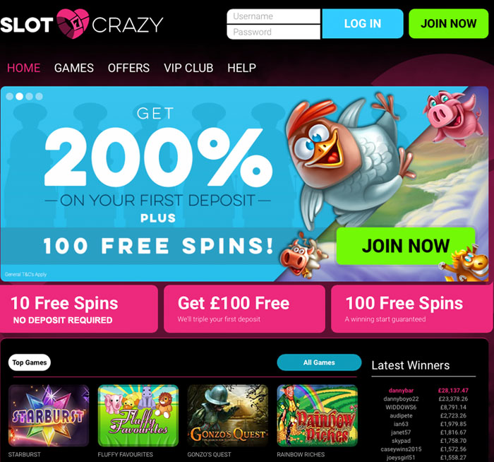 play casino online crazy slots