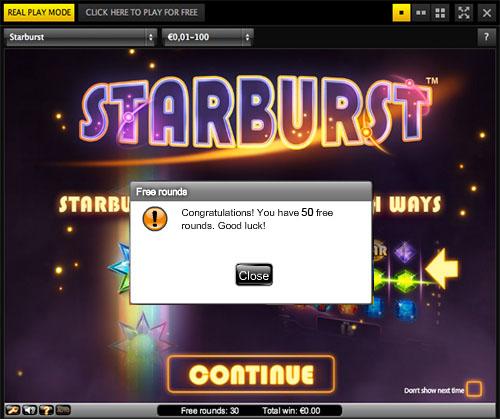50 Starburst Free Spins No Deposit Required - HugeSlotsCasino