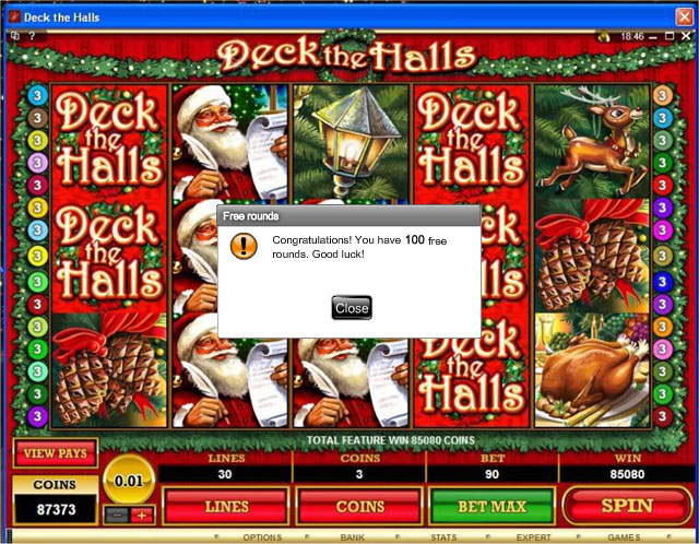 Deck-the-Halls-Slot-100-freespins